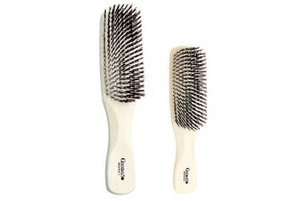 (Set, Ivory) - Giorgio GIO1-2IVY Ivory Set of 2 Gentle Touch Detangler Hair Brush for Men Women and Kids. Soft Bristles for Sensitive Scalp. Wet and Dry for all Hair Types. Scalp Massager Brush Stimulate Hair Growth