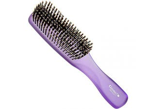 (Large, Purple) - Giorgio GION1PP Neon Purple 20cm Gentle Touch Detangler Hair Brush for Men and Women. Soft Bristles for Sensitive Scalp. Wet and Dry for all Hair Types. Scalp Massager Brush Stimulate Hair Growth