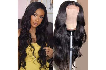 (25cm , body wave) - Baluiki 4x 4 Lace Closure Wigs Body Wave Lace Front Wigs Human Hair With Baby Hair 150% Density Body Wave Wigs For Black Women Natural Colour (25cm , body wave)