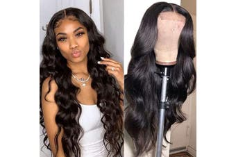 (36cm , body wave) - Baluiki4x 4 Lace Closure Wigs Body Wave Lace Front Wigs Human Hair With Baby Hair 150% Density Body Wave Wigs For Black Women Natural Colour(36cm ,body wave)
