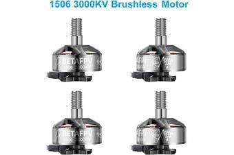BETAFPV 4pcs 1506 3000KV Brushless Motor 4-6S FPV Racing Motor for TWIG MUTANT TWIG ET 13cm Toothpick F4 20A AIO FC X-Knight 10cm Frame