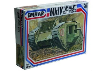 Emhar Models Mk.IV Male WWI Heavy Battle Tank Vehicle Model Building Kit