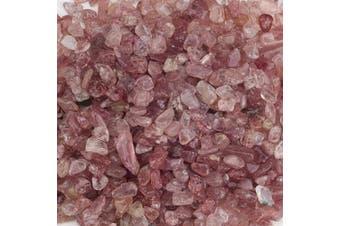 (Strawberry Quartz) - Cherry Tree Collection 0.2kg Polished Tumbled Gemstone Chips| Crystals for Decoration, Healing, Reiki, Chakra (Strawberry Quartz)