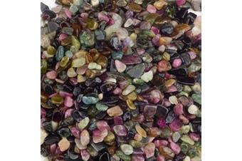 (Multi Tourmaline) - Cherry Tree Collection 0.2kg Polished Tumbled Gemstone Chips| Crystals for Decoration, Healing, Reiki, Chakra (Rainbow Tourmaline)