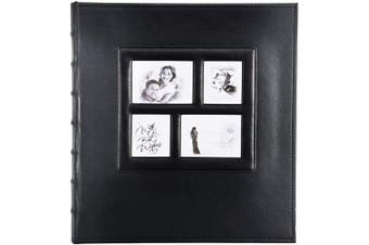(500 Pockets, Black) - Photo Picutre Album 4x6 500 Photos, Extra Large Capacity Leather Cover Wedding Family Photo Albums Holds 500 Horizontal and Vertical 4x6 Photos with Black Pages (Black)