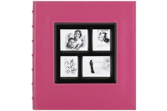 (500 Pockets, Pink) - Artmag Photo Picutre Album 4x6 500 Photos, Extra Large Capacity Leather Cover Wedding Family Photo Albums Holds 500 Horizontal and Vertical 4x6 Photos with Black Pages (Pink)