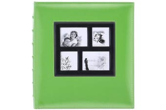 (600 Pockets, Green) - Artmag Photo Album 4x6 600 Photos, Large Capacity Wedding Family Leather Cover Picture Albums Holds 600 Horizontal and Vertical 4x6 Photos with Black Pages (Green)