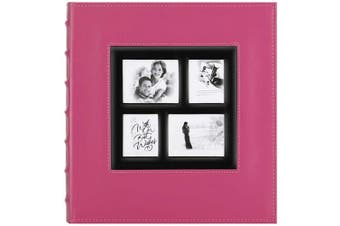 (600 Pockets, Pink) - Artmag Photo Album 4x6 600 Photos, Large Capacity Wedding Family Leather Cover Picture Albums Holds 600 Horizontal and Vertical 4x6 Photos with Black Pages (Pink)