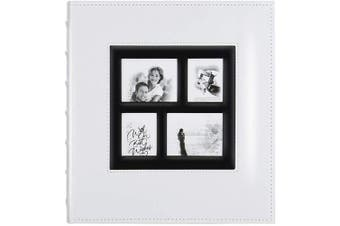 (500 Pockets, White) - Artmag Photo Picutre Album 4x6 500 Photos, Extra Large Capacity Leather Cover Wedding Family Photo Albums Holds 500 Horizontal and Vertical 4x6 Photos with Black Pages (White)