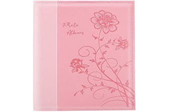 (600 pockets, Pink) - Artmag Photo Picutre Album 4x6 600 Photos, Extra Large Capacity Leather Cover Wedding Family Photo Albums Holds 600 Horizontal and Vertical 4x6 Photos with White Pages(Pink)