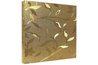 (Gold) - barsone Photo Picutre Album 4x6 600 Photos, Large Capacity Wedding Family Anniversary Memo Photo Album Slots with PU Leather Cover 5 Per Page, Gift for Mother Father (Gold)