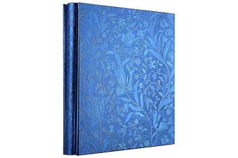 (Blue) - barsone Photo Picutre Album 4x6 600 Photos, Large Capacity Wedding Family Anniversary Memo Photo Album Slots with PU Leather Cover 5 Per Page, Gift for Mother Father (Blue)