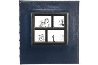(Blue-500 Pockets) - barsone Photo Picutre Album 4x6 500 Photos, Extra Large Capacity Leather Cover Wedding Family Anniversary Photo Albums Holds 500 Horizontal and Vertical Photos(Blue)