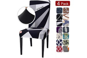 (4 per set, Style05) - SearchI Super Fit Stretch Removable Washable Short Dining Chair Covers Slipcover Protector, Spandex Fabric Chair Cover for Dining Room, Hotel, Ceremony (Style05, 4 per Set)