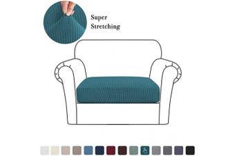 (Small, Deep Teal) - High Stretch Cushion Cover Sofa Cushion Furniture Protector for Sofa Seat Slipcover Sofa Cover Soft Flexibility with Elastic Bottom (1 Piece Cushion Covers, Deep Teal)
