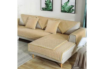 (2pcs/70cm  x 70cm /Armrest&Backrest Cover, Light Beige) - TEWENE Sofa Cover, Velvet Couch Cover Anti-Slip Sectional Couch Covers Sofa Slipcover for Dogs Cats Pet Love Seat Recliner Armrest Backrest Cover Beige (Sold by Piece/Not All Set)