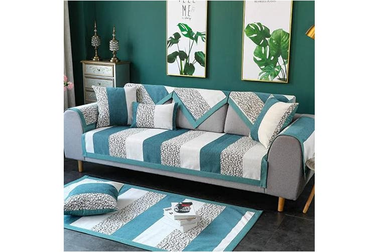 (1pc/70cm  x 210cm /Rectangular, Blue) - TEWENE Couch Cover, Sofa Cover Couch Covers Sectional Couch Covers Easy-Installation Sofa Slipcover for Dogs Cats Pet Love Seat Blue 70cm x 210cm (Sold by Piece/Not All Set)