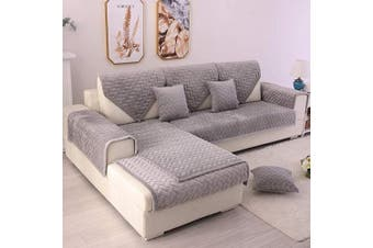 (1pc/70cm  x 150cm /Rectangular, Grey-2) - TEWENE Couch Cover, Sofa Cover Couch Covers Sectional Couch Covers Washable Sofa Slipcover for Dogs Cats Pet Love Seat Recliner Grey 70cm x 150cm (Sold by Piece/Not All Set)