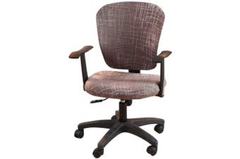 (Grey Stripe) - Jinzio Computer Office Chair Cover - Split Protective & Stretchable Cloth Polyester Universal Desk Task Chair Chair Covers Stretch Rotating Chair Slipcover (Grey Stripe)