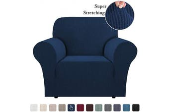 (Navy) - Stretch Jacquard Stretch Sofa Slipcover 1 Piece Sofa Covers Chair Covers for Living Room Skid Resistance Sofa Cover Stylish Form Fitted Furniture Cover Couch Covers for Chair, Navy