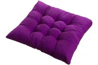 (2PCS, Purple) - PICTURESQUE 2pcs/Set Soft Purple Seat Pads for Dining Chair 40x40cm Cushion