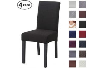 (4 Per Set, Color 17) - Dining Chair Cover Seat Protector Super Fit Slipcover Stretch Removable Washable Soft Spandex Fabric for Home Hotel Dining Room Ceremony Banquet Wedding Party Restaurant (Colour 17, 4 Per Set)