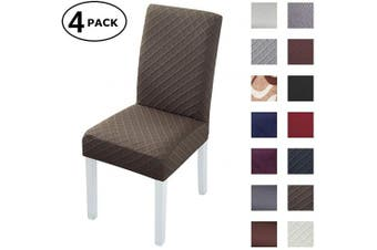 (4 Per Set, Color 19) - Dining Chair Cover Seat Protector Super Fit Slipcover Stretch Removable Washable Soft Spandex Fabric for Home Hotel Dining Room Ceremony Banquet Wedding Party Restaurant (Colour 19, 4 Per Set)