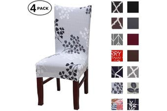 (4 Per Set, Color 05) - Dining Chair Cover Seat Protector Super Fit Slipcover Stretch Removable Washable Soft Spandex Fabric for Home Hotel Dining Room Ceremony Banquet Wedding Party Restaurant (Colour 5, 4 Per Set)