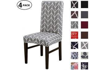 (4 Per Set, Color 15) - Dining Chair Cover Seat Protector Super Fit Slipcover Stretch Removable Washable Soft Spandex Fabric for Home Hotel Dining Room Ceremony Banquet Wedding Party Restaurant (Colour 15, 4 Per Set)