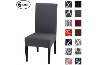(6 Per Set, Color 10) - Dining Chair Cover Seat Protector Super Fit Slipcover Stretch Removable Washable Soft Spandex Fabric for Home Hotel Dining Room Ceremony Banquet Wedding Party Restaurant (Colour 10, 6 Per Set)