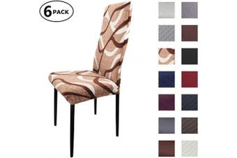 (6 Per Set, Color 23) - Dining Chair Cover Seat Protector Super Fit Slipcover Stretch Removable Washable Soft Spandex Fabric for Home Hotel Dining Room Ceremony Banquet Wedding Party Restaurant (Colour 23, 6 Per Set)