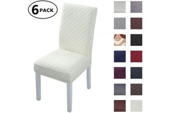 (6 Per Set, Color 21) - Dining Chair Cover Seat Protector Super Fit Slipcover Stretch Removable Washable Soft Spandex Fabric for Home Hotel Dining Room Ceremony Banquet Wedding Party Restaurant (Colour 21, 6 Per Set)