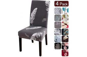 (4 per set, Pattern11) - Dining Room Chair Covers Slipcovers Set of 4, Spandex Fabric Fit Stretch Removable Washable Kitchen Chair Covers Protector for Dining Room, Hotel, Ceremony (Pattern11, 4 per Set)