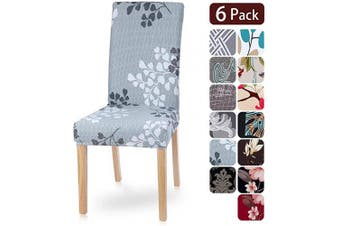 (6 per set, Pattern4) - Dining Room Chair Covers Slipcovers Set of 6, Spandex Fabric Fit Stretch Removable Washable Kitchen Chair Covers Protector for Dining Room, Hotel, Ceremony (pattern4, 6 per Set)