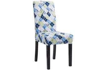 (6, Cfdy) - Mecerock Fit Stretch Jacquard Removable Washable Short Dining Chair Covers Seat Slipcover for Hotel,Dining Room,Ceremony,Banquet Wedding Party (6, CFDY)