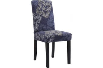 (6, Htl) - Mecerock Fit Stretch Jacquard Removable Washable Short Dining Chair Covers Seat Slipcover for Hotel,Dining Room,Ceremony,Banquet Wedding Party (6, HTL)