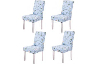 (4, Style 03) - YEESSION Stretch Spandex Dining Chair Slipcovers Removable Washable Dining Room Chair Protector Cover Seat Slipcover Set of 4 (Style 03)