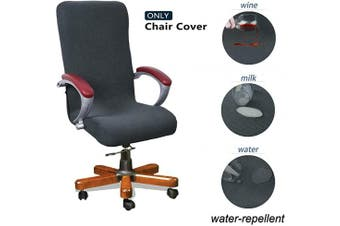 (Medium, Dark Gray) - WOMACO Desk Chair Cover Stretchable Computer Chair Slipcover Large Medium Office Chair Cover High Back (Dark Grey, Medium)