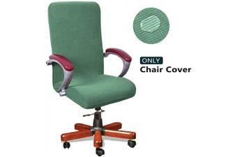 (Medium, Matcha) - WOMACO Waterproof Office Chair Cover, Computer Office Chair Covers Water-Repellent Universal Boss Chair Covers Modern Simplism Style High Back Chair Slipcover (Matcha, Medium)