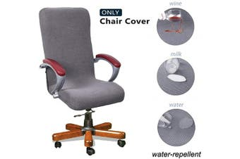 (Large, Light Gray) - WOMACO Computer Chair Covers Stretchable Desk Chair Slipcover for Office Chair Universal High Back Boss Chair Cover (Light Grey, Large)