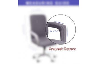 (Armrest Cover-45cm , Light Gray) - WOMACO Waterproof Office Chair Cover, Computer Office Chair Covers Water-Repellent Universal Boss Chair Covers Modern Simplism Style High Back Chair Slipcover (Light Grey, Armrest Covers)