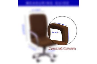 (Armrest Cover-45cm , Brown) - WOMACO Waterproof Office Chair Cover, Computer Office Chair Covers Water-Repellent Universal Boss Chair Covers Modern Simplism Style High Back Chair Slipcover (Brwon, Armrest Covers)