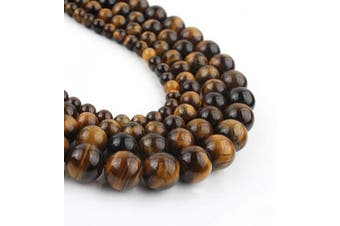 (10mm, yellow) - Song Xi 10mm Yellow Tiger Eye Beads Stone Beads for Jewellery Making 15inch Beads