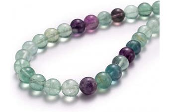 "(8mm, Fluorite) - BEADIA Natural Fluorite Stone Round Loose Semi Gemstone Beads for Jewellery Making 8MM (15""/Strand) 45PCS"