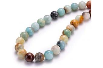 """(10mm, Amazonite Jade) - BEADIA Natural Amazonite Jade Stone Round Loose Semi Gemstone Beads for Jewellery Making 10MM (15""""/Strand) 37PCS"""