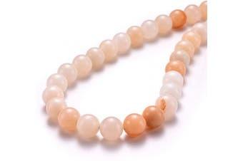 """(8mm, Pink Aventurine) - BEADIA Natural Pink Aventurine Jade Stone Round Loose Semi Gemstone Beads for Jewellery Making 8MM (15""""/Strand) 45PCS"""