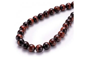 """(6mm, Red Tiger Eye) - BEADIA Natural Red Tiger Eye Stone Round Loose Semi Gemstone Beads for Jewellery Making 6MM (15""""/Strand) 62PCS"""
