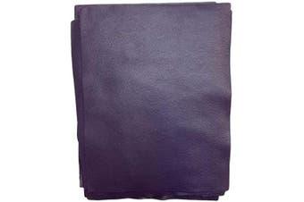(Grape) - Natural Grain Cow Leather: 22cm x 28cm Pre Cut Leather Pieces (Grape)