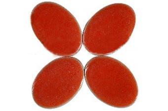 (Red) - BestTeam Mosaic Tiles, Micro Ceramic Mosaic Craft Art Oval Ultrathin Ceramic Manual DIY Mosaic Decor 120 Pcs Jewellery Earring Porcelain Mosaic Tiles (Red)
