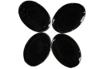 (Black) - BestTeam Mosaic Tiles, Micro Ceramic Mosaic Craft Art Oval Ultrathin Ceramic Manual DIY Mosaic Decor 120 Pcs Jewellery Earring Porcelain Mosaic Tiles (Black)
